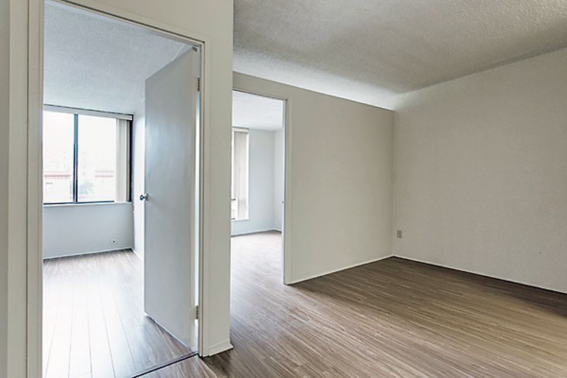 unfurnished shared student apartment at LaCité