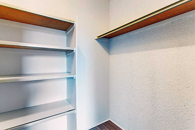storage space in unfurnished apartment