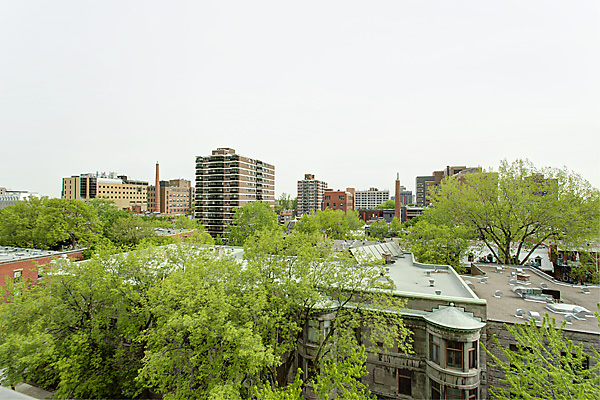 view from the balcony of a LaCité apartment in Montréal